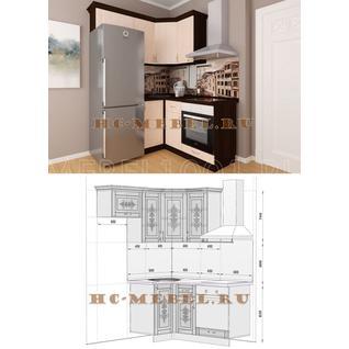 Кухня БЕЛАРУСЬ-8 модульная угловая, правая, левая