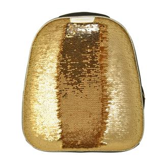 Ранец №1School Sparkle Gold, ортопед. cпинка, двустор.пайетки
