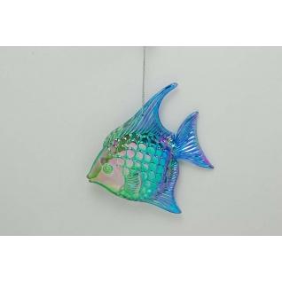 Украшение Тропическая рыба, цвет иридий сине-зеленый