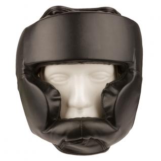 Маска Kopfschutz Kunstleder schwarz