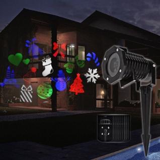 Новогодний Уличный проектор 24 рисунка дом/улица