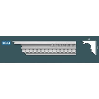КВ504 Карниз гипсовый с орнаментом - 100х100мм