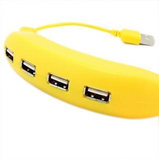 Разветвитель USB HUB 2.0 на 4 порта Банан HUB-BANANA-4