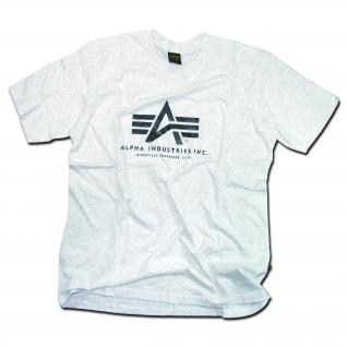 Alpha Industries Футболка Alpha Industries серого цвета