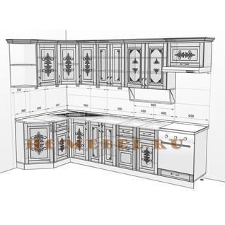Кухня БЕЛАРУСЬ-2В УГЛОВАЯ модульная, правая, левая