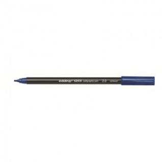 Фломастер для каллиграфии Edding E-1255 calligraphy pen 2.0 син-стал_017
