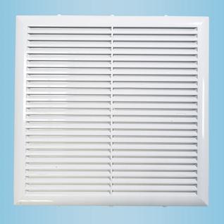 Решетка вентиляционная вытяжная 130*130 белая серия Н Виенто