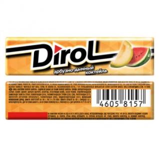 Жевательная резинка DIROL Арбузно-Дынный Коктейль 13,6г