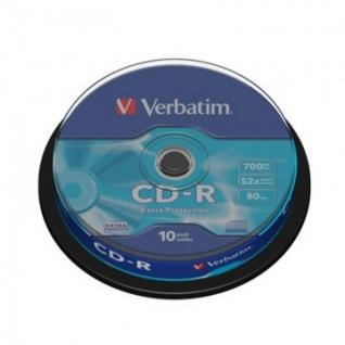 Носители информации Verbatim CD-R 700MB 52x CB/10 43437 Extra Protect