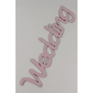 "Надпись ""Wedding"" (17х61см), розовый"