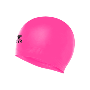 Шапочка для плавания Tyr Wrinkle Free Junior Silicone Cap, силикон, Lcsjr/693, розовый