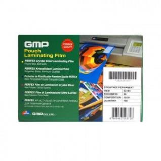 Пленка для ламинирования GMP 52х84мм, 80мкм, самокл. 100шт/уп.