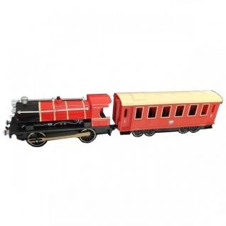 Классический поезд Teamsterz City (свет, звук), красный, 1:55 HTI