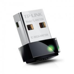 Адаптер Wi-FiWi-Fi TP-LINK TL-WN725N (wf,2,4ГГц,150Мбит/с,USB2.0,micro)