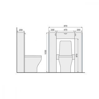 Стеллаж RAVAL Space 103 напольный Белый (Spa.10.103/N/W)