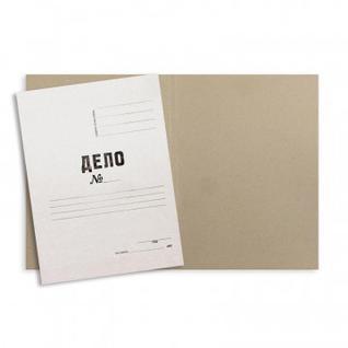 Папка обложка ДЕЛО 280г/м2 немелованная 200 шт/уп