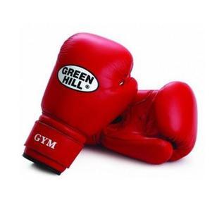 Перчатки боксерские Green Hill Gym Bgg-2018, 12oz, кожа, красные