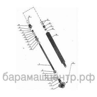 Штанга бурильная БКМ-311.05.09.000-01