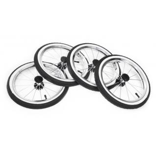 Надувное большое колесо Ø35см (черное с белым кантом) Reindeer
