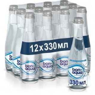 Вода питьевая Bon Aqua стекло 0,33л негаз. 12 шт/уп