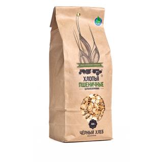 Хлопья пшеничные цельнозерновые БИО, пакет 0.5 кг