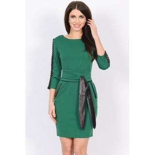 Трикотажное платье с поясом ML 45001190