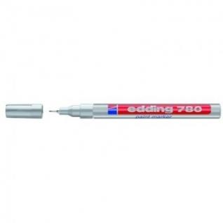 Маркер пеинт (лак) EDDING E-780/54 серебр. 0,8мм