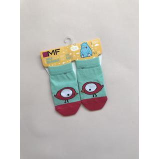 MF216 носки детские птица розовая на мятном Mark Formelle (12-18) (10)