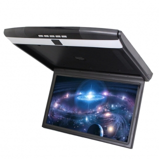 """Автомобильный потолочный монитор 15.6"""" со встроенным Full HD медиаплеером ERGO ER15S (черный) Ergo"""