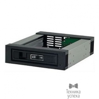 Procase Procase L3-101-SATA3-BK Hot-swap корзина 1 SATA3/SAS 6Gb, черный, с замком, hotswap aluminium mobie rack module (1x5,25) 1xFAN 40x15mm
