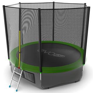 EVO FITNESS Батут Evo Jump External 10ft (Green) + Lower net