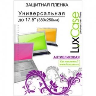 Пленка защитная универсальная до 17.5, антиблик, LuxCase, прозрачная, 80123