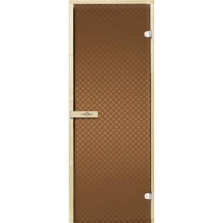 Дверь для бани РЕТРО 7х19, бронза матовое