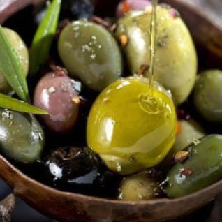 OPHELLIA Зеленые оливки фаршированные соленым огурцом OPHELLIA 500 гр.