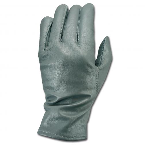 Made in Germany Перчатки кожаные в стиле Бундесвера серого цвета 5026165