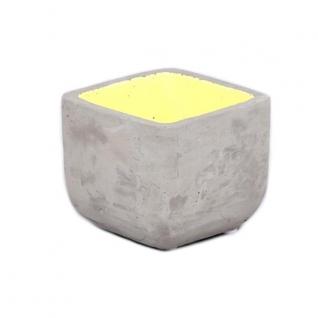Кашпо для суккулентов желтое