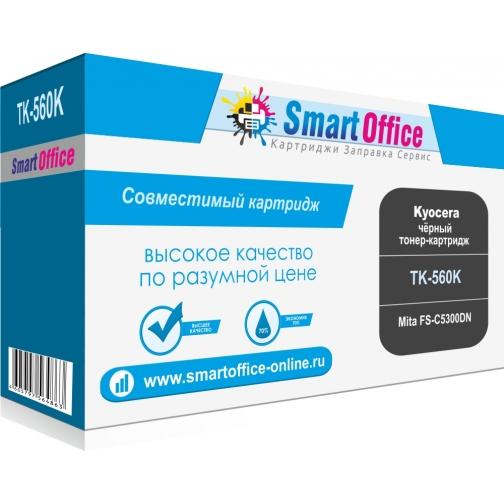 Совместимый тонер-картридж TK-560K для Kyocera Mita FS-C5300DN (черный, 12000 стр.) с чипом 4535-01 Smart Graphics 851343 1