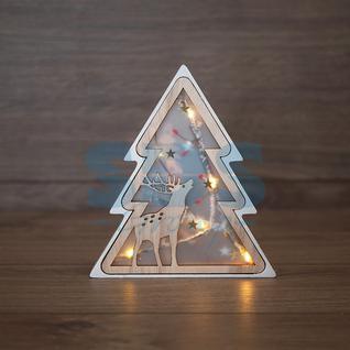 Neon-Night Деревянная фигурка с подсветкой «Елочка» 16х2х18 см