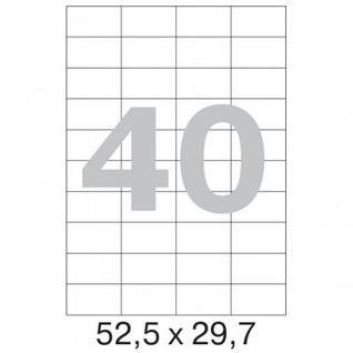 Этикетки самоклеящиеся Office Label 52,5х29,7 мм / 40 шт. на листе А4 (100л