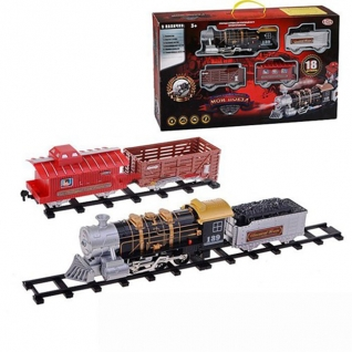 """Железная дорога """"Мой поезд"""" (свет, звук, дым), 18 предметов Play Smart"""