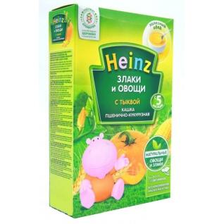 """Безмолочная каша Heinz """"Пшенично-кукурузная с тыквой"""" (с 5 мес.), 200 гр."""