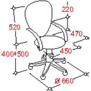 Кресло UP_EChair-203 PTW net ткань черная, сетка синяя, хром