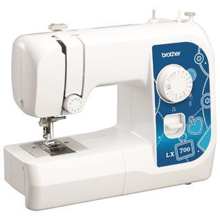 BROTHER LX 700, Швейная машина (17 операций, электромеханическая, ротационный горизонтальный челнок, петля-полуавтомат, LED-подсветка)