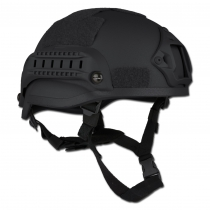 Made in Germany Шлем MICH 2002 NVG Mount+Siderail черного цвета
