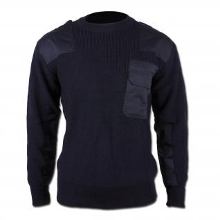 Made in Germany Пуловер в стиле Бундесвера, цвет синий, новый