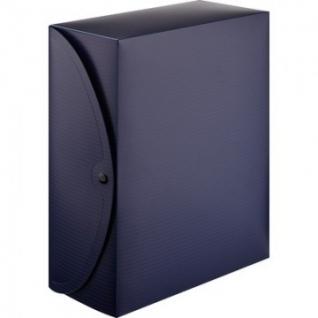 Короб архивный на кнопке Attache 120 мм пластик,синий