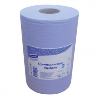 Бумага протирочная Luscan Prof 2сл 500лx1рул/уп 130м голубая