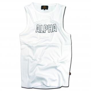 Alpha Industries Футболка Tank-Top Alpha Track белая