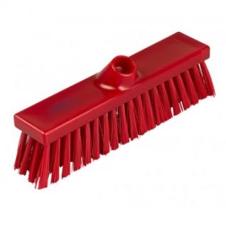 Щетка Метла плоская с жесткой щетиной, 280ммх55мм, B1733 R ПМ красная