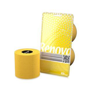 Туалетная бумага трехслойная RENOVA CRYSTAL цвет желтый 140 листов, 2 рулона